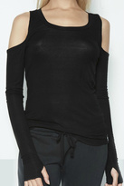 Michael Lauren Flippo Open Shoulder Top