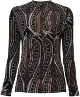 Sophie Theallet leaf print blouse