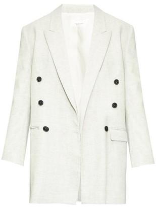 Etoile Isabel Marant Eagen Oversized Double-breasted Blazer - Womens - Light Grey