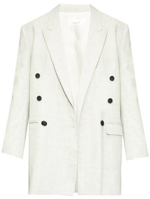 Etoile Isabel Marant Eagen Oversized Double-breasted Blazer - Womens - Light Grey