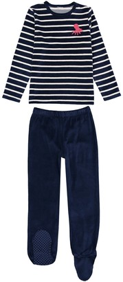 La Redoute Collections Velvet Pyjamas with Feet, 3-12 Years