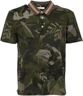 Valentino Tropical Print Polo Shirt