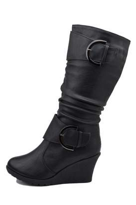 Top Moda Slouched Wedge Boots
