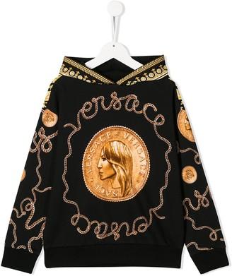 Versace Donatella coin hoodie