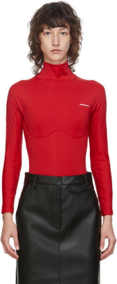 pushBUTTON SSENSE Exclusive Red Logo Turtleneck