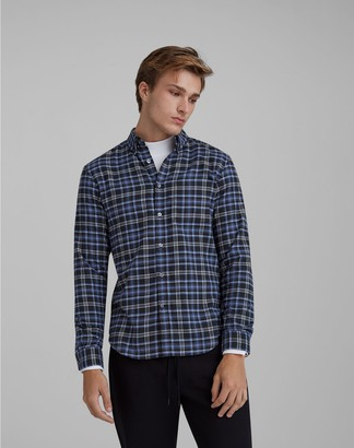 Club Monaco Plaid Flannel Shirt
