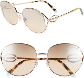 Tiffany & Co. 56mm Gradient Round Sunglasses