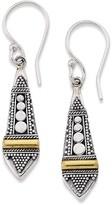 Samuel B. Sterling Silver & 18K Gold Balinese Drop Earrings