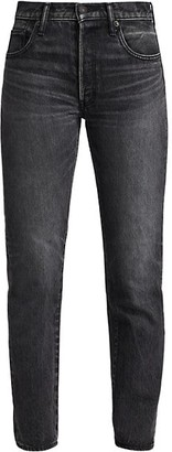 Moussy Boothbay High-Rise Straight Jeans
