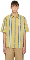 Ribeyron Yellow and Blue Striped Tourist Shirt