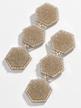 BaubleBar Cuvier Druzy Drop Earrings