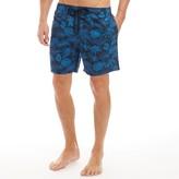 Kangaroo Poo Mens Printed Swim Shorts Navy/Blue