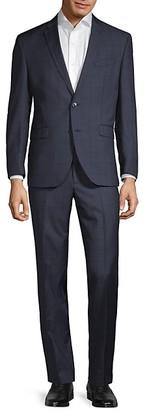 Kenneth Cole Slim-Fit Plaid Wool Suit