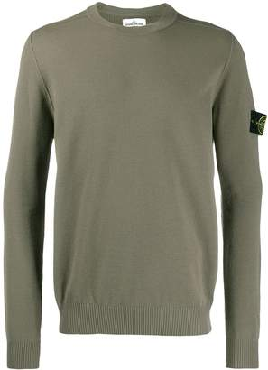 Stone Island logo long-sleeve sweater