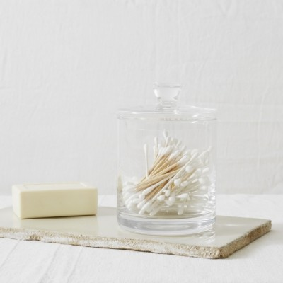 The White Company Tall Glass Storage Jar, Clear, One Size
