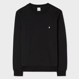 Paul Smith Men's Black Ghost-Motif Loopback-Cotton Sweatshirt