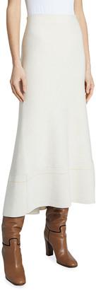 Victoria Beckham Fit-&-Flare Knit Midi Skirt