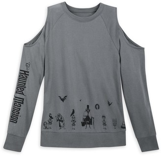 Disney The Haunted Mansion Cold Shoulder Long Sleeve Shirt for Women