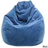 Gold Medal Sueded Seatback Beanbag Chair