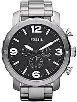 Fossil Men's Silvertone Oversized Dress Watch