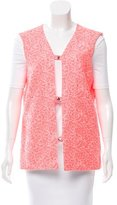 Jil Sander V-Neck Patterned Vest w/ Tags