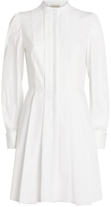Alexander McQueen Pleated Cotton Dress