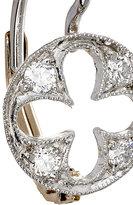 Cathy Waterman Women's Florentine Quatrefoil Earrings
