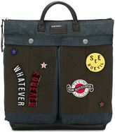 Diesel patched backpack