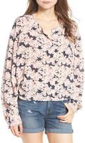Hinge Floral Print Oversize Blouse