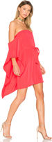 Halston One Sleeve Mini Dress