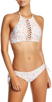 Rachel Pally Babylon Print High Neck Bikini Top