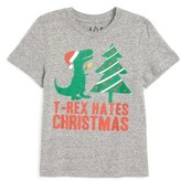 JEM Toddler Boy's T-Rex Hates Christmas Graphic T-Shirt