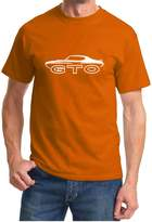 Maddmax Car Art 1970-72 Pontiac GTO Judge Muscle Car Classic Outline Design Tshirt