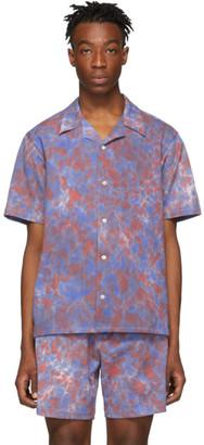 Leon Aime Dore Red Tie-Dye Leisure Shirt