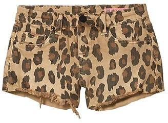 Blank NYC Kids Leopard Shorts in Stubbon (Big Kids) (Stubbon) Girl's Shorts