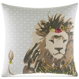 """CLOSEOUT! Whim by Martha Stewart Collection Lion 18"""" Square Decorative Pillow"""