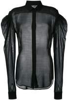 Saint Laurent sheer drop puff sleeve shirt
