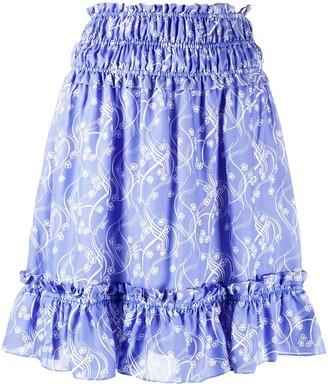 Kenzo Smocked Waistband Mini Skirt