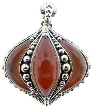 Lagos Contessa Silver Carnelian Gemstone Doublet Pendant Necklace