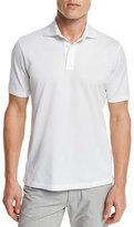 Ermenegildo Zegna Pique Polo Shirt, White