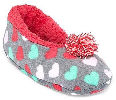JCPenney Print Sock Slippers