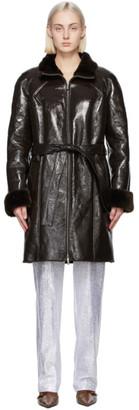 Saks Potts Brown Patent Fusun Coat