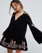 Free People Te Amo Embroidered Dress