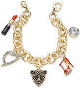 Thalia Sodi Gold-Tone Enamel and Crystal Glamour Charm Bracelet, Only at Macy's