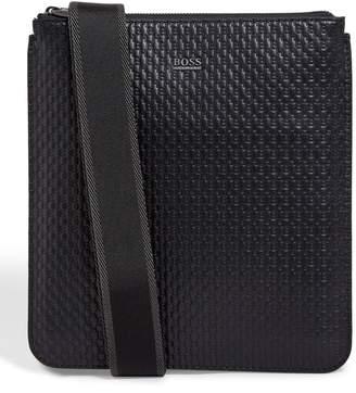 BOSS Leather Monogram Messenger Bag
