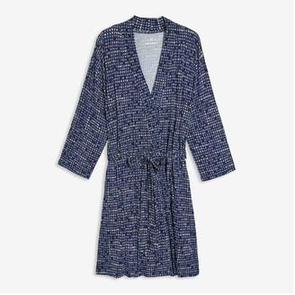 Joe Fresh Women+ Print Robe, Dark Navy (Size 2X)