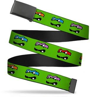 """Buckle Down Buckle-Down Men's Buckle-Down Web Belt Ninja Turtles 1.5"""""""