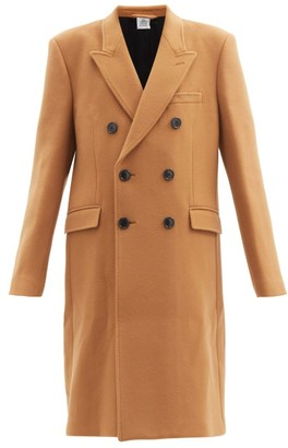 Vetements Double-breasted Wool-blend Coat - Camel