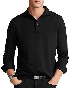 Polo Ralph Lauren Custom Slim Fit Long Sleeve Mesh Polo Shirt