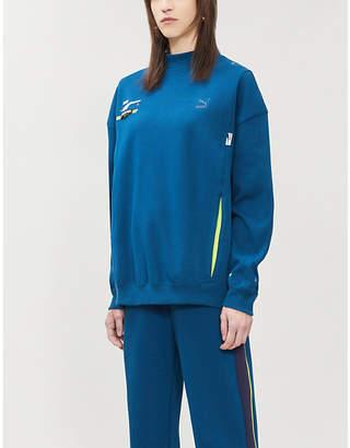 Puma X ADER ERROR High-neck logo-embroidered cotton-blend piqué sweatshirt